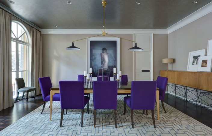 Dining Room Purple Chairs
