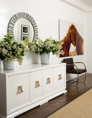White Entry Design Elegant