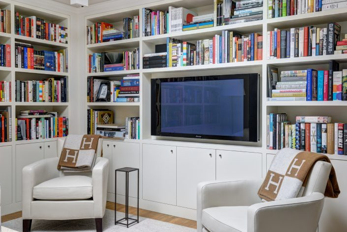Library and Media Room by Eric Cohler Design